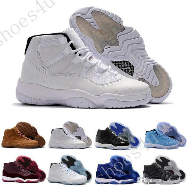 Legend (11) XI espaço jam desconto preto azul veludo 72-10 tênis de basquete Mens Sports tênis de corrida 11s raça das mulheres Sneakers