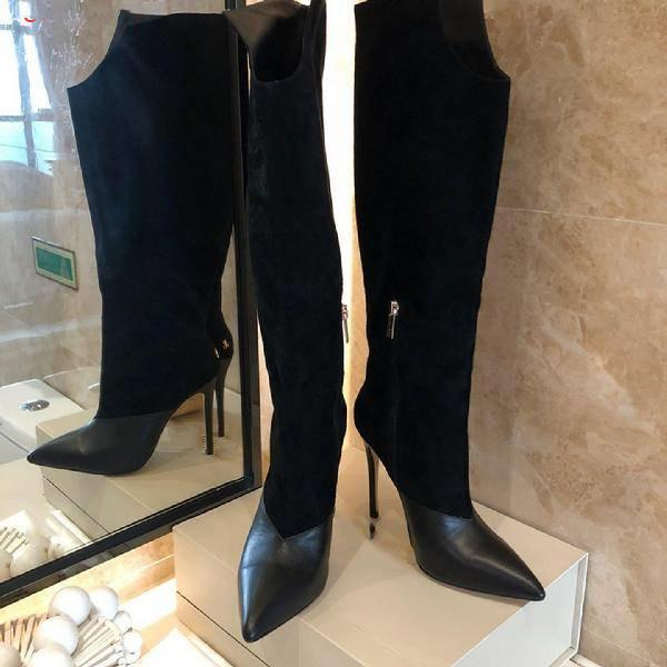 2019 Chaussures à semelles compensées en cuir véritable Sandal mode vente chaude Matin cuissarde Rouge / Gris / Noir Designer Livraison gratuite