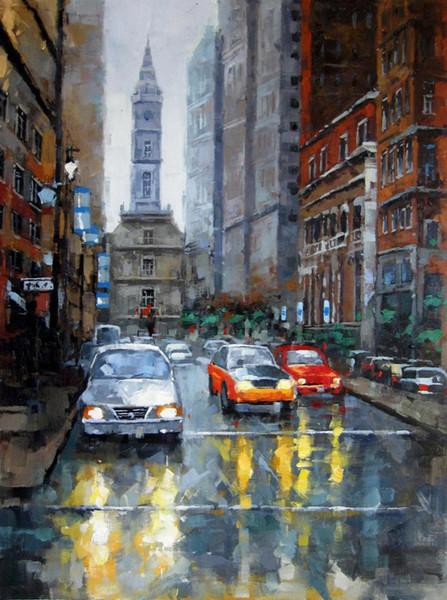 Такси Home Decor ручная роспись HD печать картина маслом на холсте стены искусства холст большие фотографии 191124