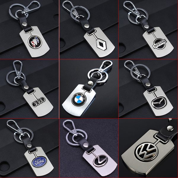 2 Pieces Car Key Chain Auto Logo Metal Keychain Key Holder Key Ring For BMW Lexus Audi Volkswagen Jeep Opel Nissan Volvo Buick Honda Renault