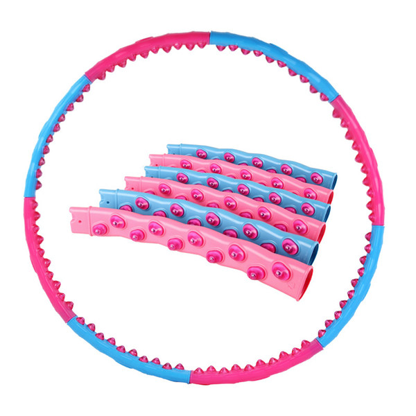8 Parts Detachable Double Row Magnet Magnetic Massage Fitness Hoop Exercise Workout Slimming Equipment