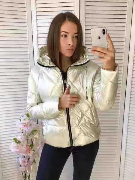 jaqueta de prata brilhante