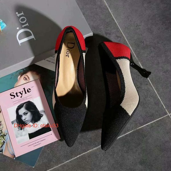 High heels new satin bow women s singles shoes fine with pointed high heels word with sandals red wedding shoes 09174