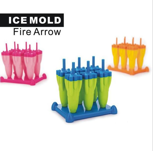 Rocket Frozen Popsicle Ice Pop Molds ice cube tray Summer products popsicle mold Ice Cream Tools KKA6864