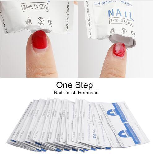 300Pcs/lot ROSALIND Cleaner Gel Nail Polish Remover Lint-Free Wipes Nail Art Manicure Easy Wraps UV Nails Gel polish Remover