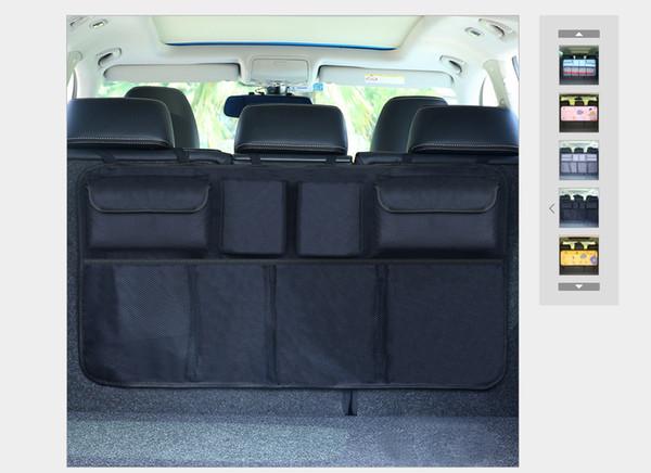 Car Organizer Seat Back Storage oxford fabric Bag Strong Magic Tape Solid Luggage Holder Car Trunk Organizer Car Styling
