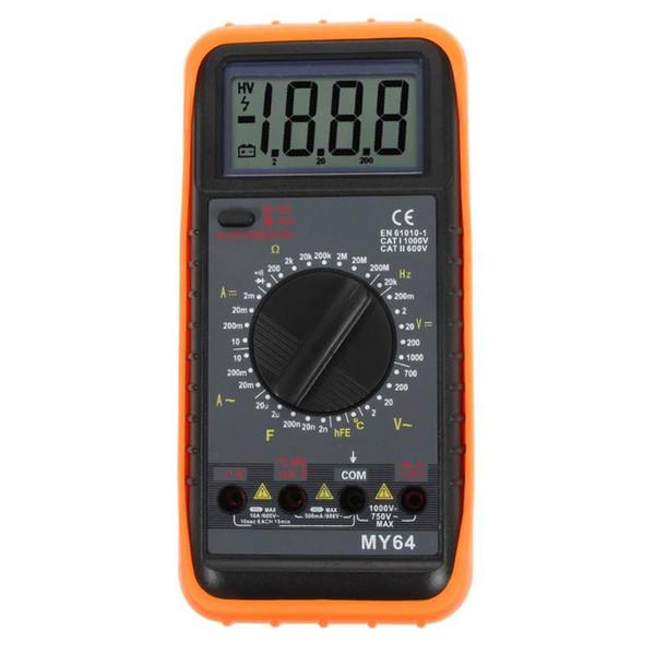 Dijital Multimetre Apm Volt Ohm Frekans Kapasite Test Cihazı MY-64 AC / DC Ücretsiz kargo