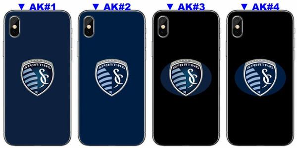 [TongTrade] роскошные очистить Силиконовый TPU для iPhone 8 х 7 5С 6С плюс чехол Спортинг Канзас-Сити для Samsung Галактики С9 С8 С7 С6 край плюс случае