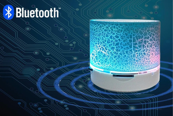 top popular A9 LED MINI Bluetooth Speaker A9 TF USB FM Wireless Portable Music Sound Box3 2019