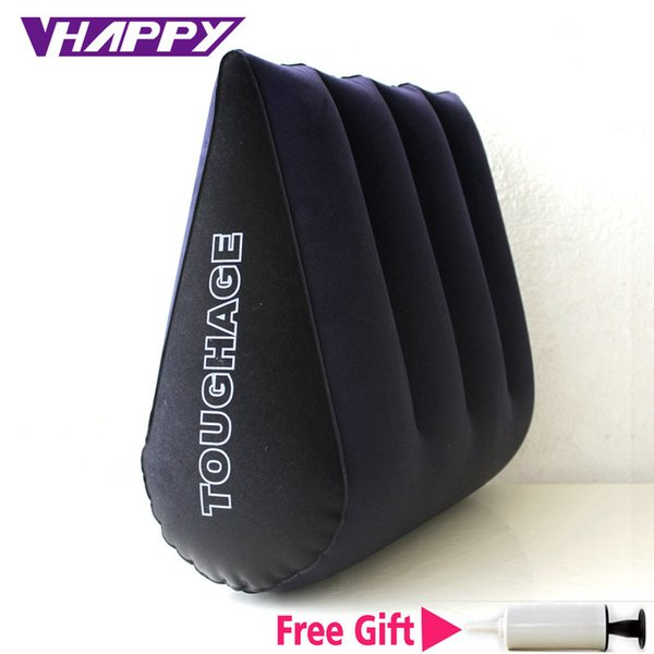 High quality Toughage Inflatable Sex Pillow Positions Adult Sex Sofa Bed Cushion Triangle Wedge Pad Sofa Toys Sex Hold Pillow C18112701