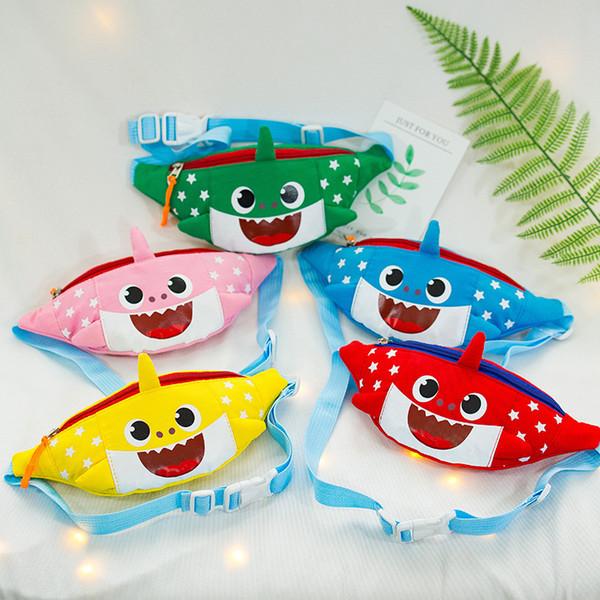 Baby Shark Cute Cartoon Gürteltasche Jungen Mädchen Eine Umhängetasche Kindergarten Leinwand Brusttasche Kinder Gürteltaschen Reißverschluss Geldbörse 2019 A326010