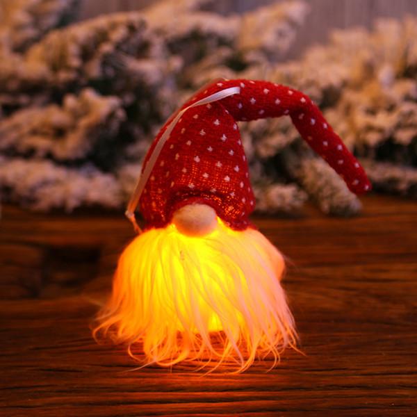Floresta Man boneca Gorro Festival Pingentes Início Janela com luz Ornamento de suspensão do feriado interior Decorações de Natal