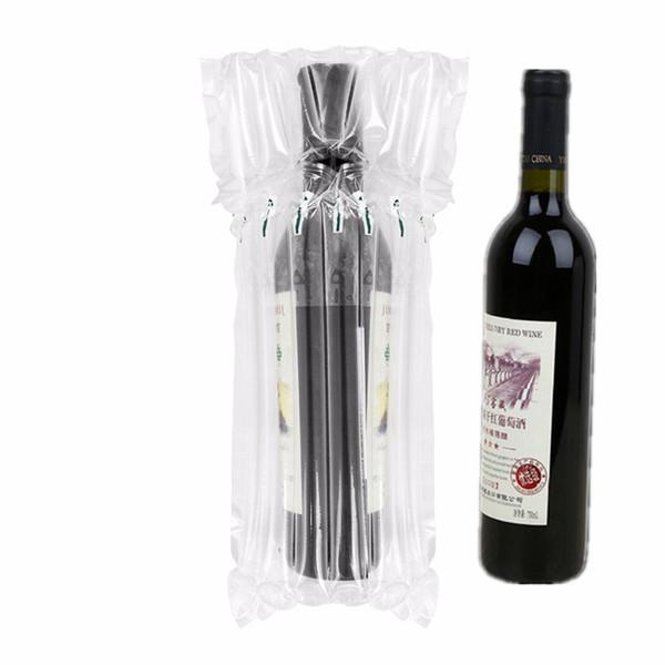 32 * 8 cm Air Dunnage Bag Bolsa de vino protectora envuelta en aire Cojín de aire inflable Colchón de colchón de bolsas con una bomba libre
