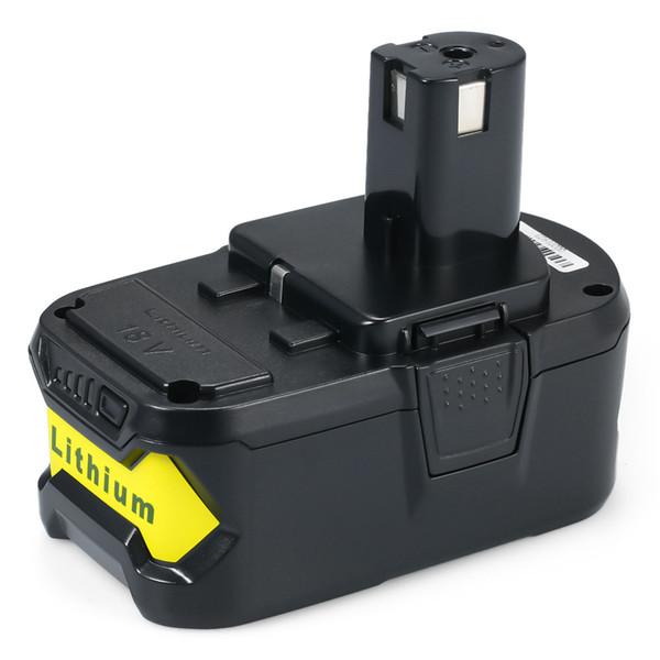 Batería de repuesto de cargador de iones de litio de 18 V 4000 mAh / 5000 mAh / 6000 mAh para herramientas eléctricas Ryobi ONE + de batería de 18 voltios ONE +