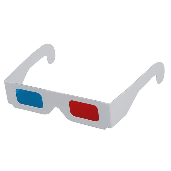 Universal-Papier Anaglyphen 3D-Brille 3D-Brille Papier Ansicht Anaglyph Rot / Blau 3D-Glas für Film Video EF r20