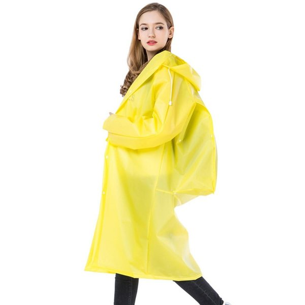 Hooded Raincoat Women Long,Mens and Womens Fashionable Plain Environmentally Friendly Solid Color Raincoat Outwear