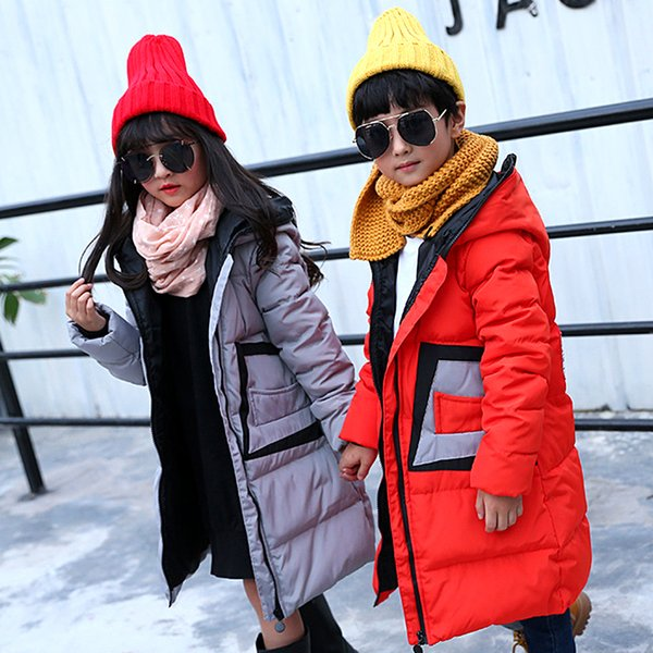 2019 Children Down Jacket Girls Boys Clothes Hot Thick Winter Coat Parka With Teenage Clothing Long Hooded Promotion Discount