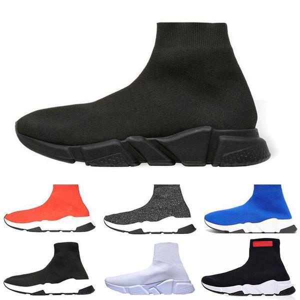 İYİ! Çorap Ayakkabı Rahat Ayakkabı Hız Eğitmen Yüksek Kaliteli Sneakers Hız Eğitmen Çorap Yarışı moda lüks erkek kadın tasarımcı sandalet ayakkabı