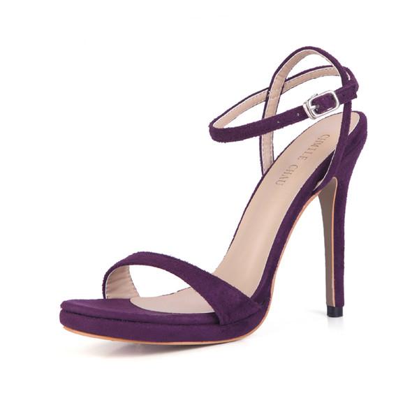 CHMILE CHAU Sexy Party Ankle Strap Stiletto High Heel Women Sandal Sandale Femmes Talon Haut Aiguille Bride de Cheville Soiree