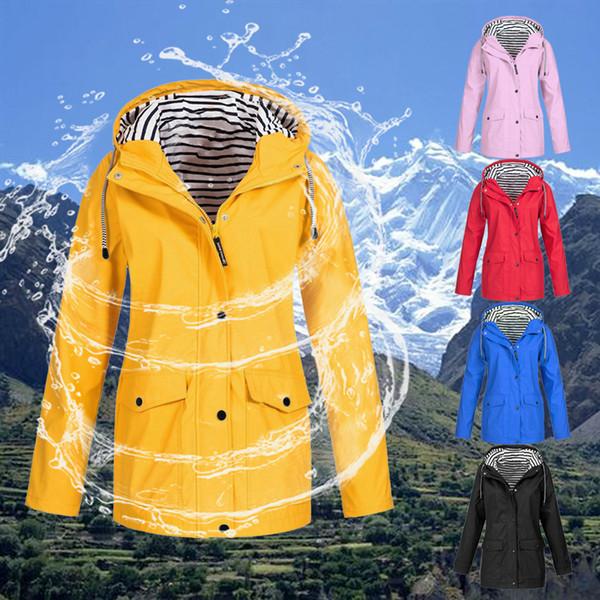 Kadınlar 5XL Yürüyüş Ceketler Bahar Sonbahar Fermuarlı Rüzgarlık 2019 Termal Yağmur Jacker Su Geçirmez Ceket Açık Yağmurluk Dış Giyim