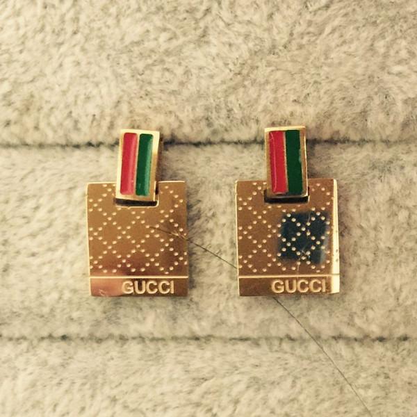Hohe Qualität G Brief Heißer Verkauf Ohrstecker Luxus Designer Edelstahl Gold Silber Rose ohrringe Für Frauen Freies Verschiffen
