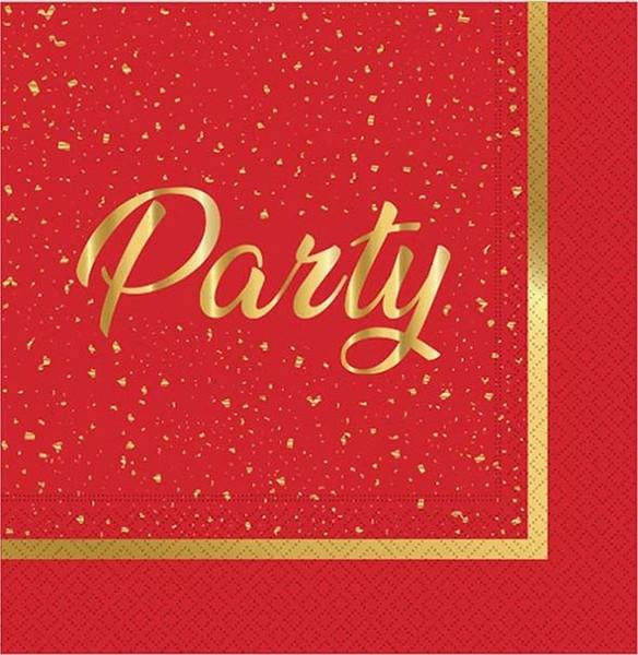 Nave partibulut Party Time tovagliolo di carta rossa 33x33cm dalla Turchia HB-002.825.674