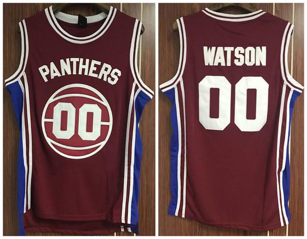 # 00 Kyle Watson Panthers High School Sopra il bordo Retro Classic Basketball Jersey Mens cucita numero personalizzato e nome maglie