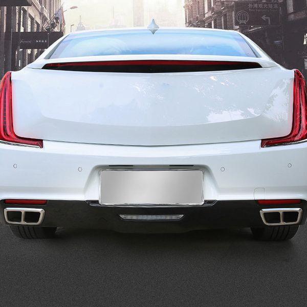 Accessoires de style de voiture 2 PCS En Acier Inoxydable Arrière D'échappement Silencieux Fin Tail Pipe Cover Décoration Trim Pour Cadillac XTS 2018