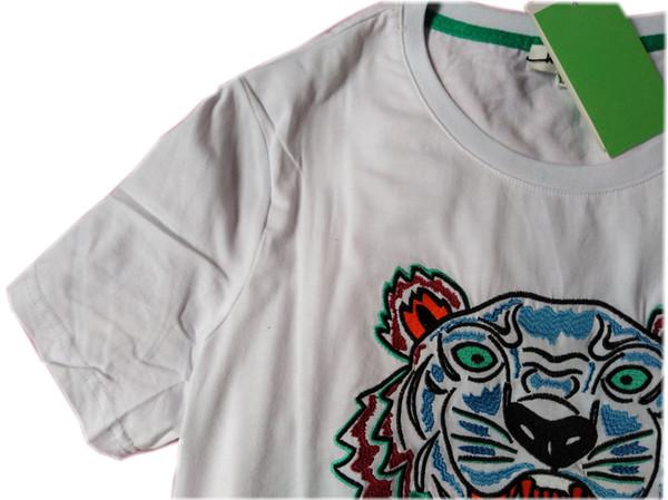 2019 ss Bordado Tigre Cabeça T camisas paris Designer de Marca de Manga Curta original 5 cartas homem mulher polo tops drop shipping
