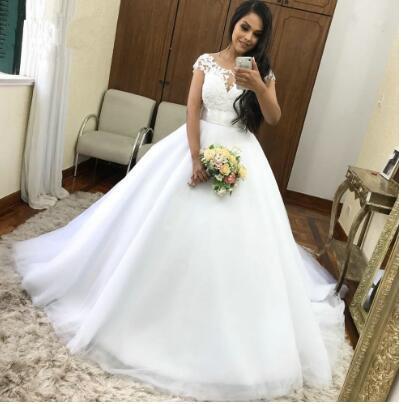 Vestidos de festa старинные атласное свадебное платье с длинным рукавом лодка шеи кружева развертки поезд свадебное платье Vestido де Noiva