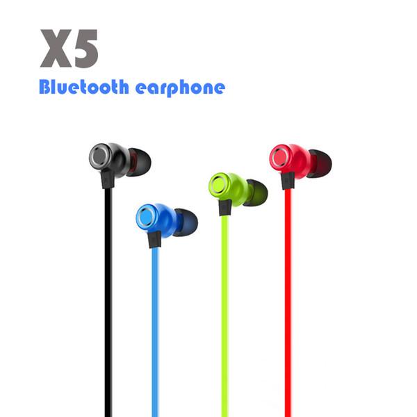 Candy Colours X5 Магнитные Bluetooth-наушники Беспроводные наушники Спортивные стереогарнитуры Наушники с микрофоном Handsfree In ear with Retail Box