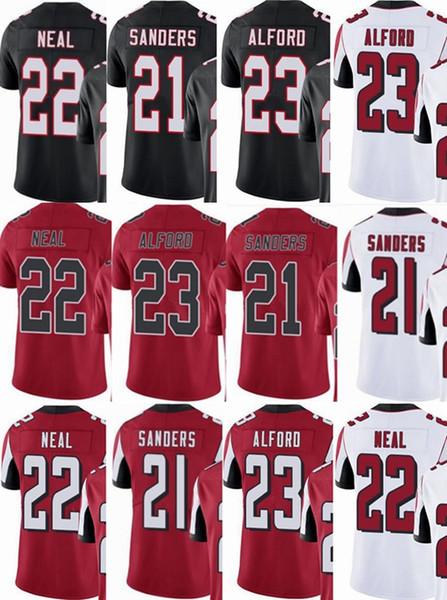 hommes / femmes / jeunes # 21 Deion Sanders 22 Keanu Neal 23 Robert Alford Vapor Intouchable Limited / rush / maillots élite