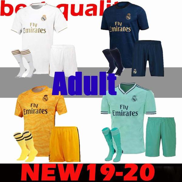 взрослые дети 19 20 Реал Мадрид трикотажные изделия 2019 опасность Иско футбол Джерси 2020 Серхио Рамос Модрич Бэйл мужчины мальчики футбол рубашка униформа комплект