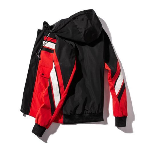 Fashion Mens Jackets Coat Brand Hooded Jacket For Men Windbreaker Zipper Hoodies Designer Mens Sportwear Plus Size Clothing Wholesale
