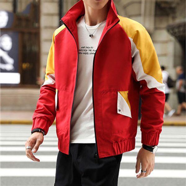 Mens конструктора Ветровка с длинным рукавом молнии куртки заплатки Спорт Карманы Gym Running пальто весна осень верхнего качества B100002L