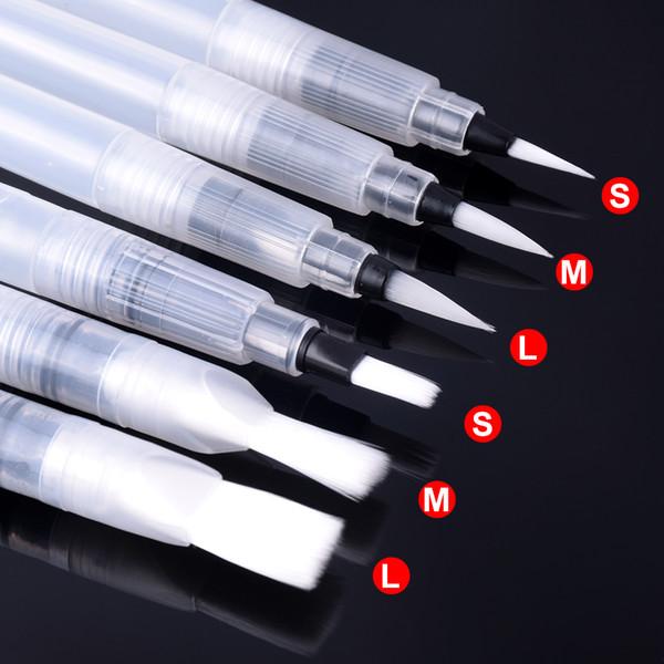 12 Pcs Portable Paint Brush Water Color Brush Pencil Soft Watercolor Brush Pen For Beginner Painting Drawing Art Supplies