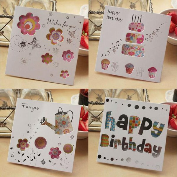 Different Pattern Delicate Universal Festival Cutout Happy Birthday greeting card /Christmas gift H030