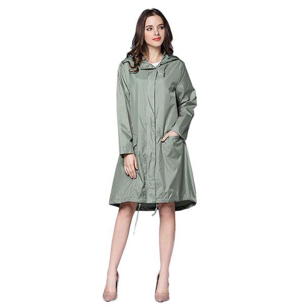 Uzun Yağmurluk Kadınlar Su geçirmez Windproof Hood Bayanlar İnce Yağmur Coat Pançolar Ceketler Kadın Chubasqueros Mujer Capa De Chuva