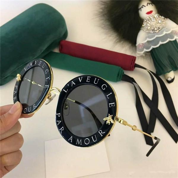 gucci gg0113 Nueva alta calidad 0113 para mujer gafas de sol mujeres gafas de sol 0113S gafas de sol redondas gafas de sol mujer lunita