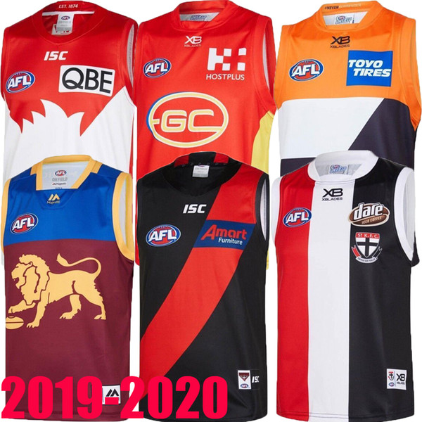 best selling NEW 2019 Sydney Swans Jilang Cat Brisbane Lions Club Giants Sydney Swans HOME Rugby Jerseys AFL jersey singlet League shirt vest s-3xl