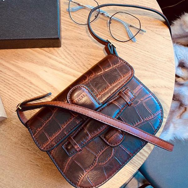 Frauen Satteltasche Tasche Krokodil-Leder-Handtaschen Bolsos de marca famosa Mini Schulter diagonale Taschen Hochwertige Handtaschen 2019 Designer