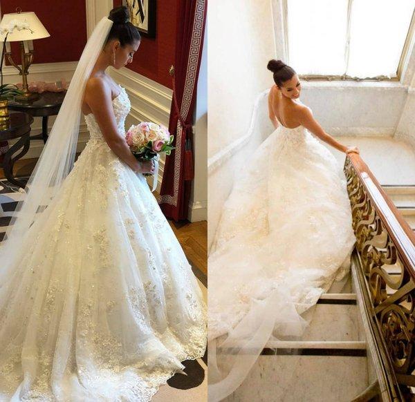 Newest Luisasposa Elegant Ball Gown Strapless Wedding Dresses