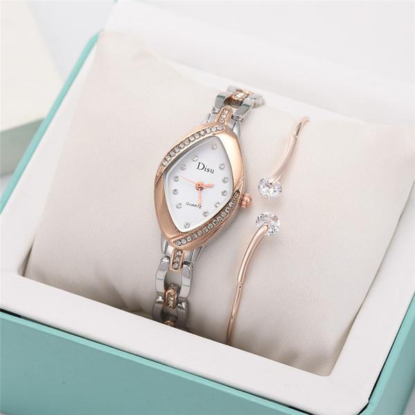 Lumière Luxe Tempérament Mode Creative Bracelet Montres de luxe Montre Femme marques célèbres dames Montres Horloge cadeau