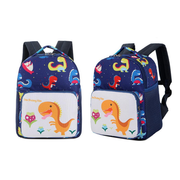 Kindergarten studenti borsa carina Cartoon Stampato Zipper Sacchetti di scuola dei bambini zaino doppio di spalle pacchetto per i bambini Bookbag Daypack