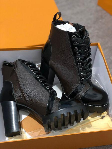Bottes pour femmes designer World Tour Desert Boot Platform Boot Bottines de vaisseau spatial, 5cm de talon médaillon de flamants roses bottes martin à semelles robustes w01