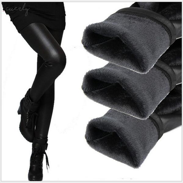 İnce Kalem Külot Kaşmir pantolon Legging Kadınlar Pantolon Sahte Deri Tozluklar Lady Boot Kalın Sıcak Pantolon Kadife