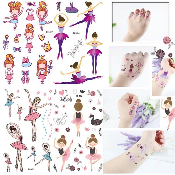 Acheter Autocollant De Tatouage Temporaire Pour Le Body Art Petite Fille De Dessin Animé De 341 Du Xingceng Dhgatecom