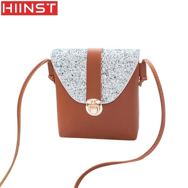 Cheap Fashion Women Fashion Solid Color Lock Sequins Crossbody Bag Shoulder Bag High Quality Bag MAY15