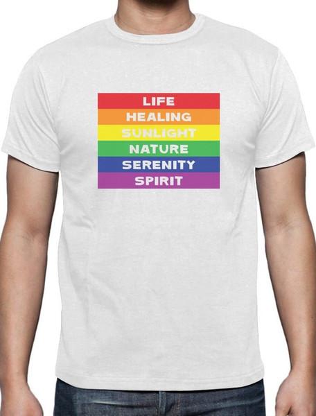 énorme réduction images officielles lisse Acheter Rainbow Gay Fierté Drapeau Signification T Shirt Fierté Défilé  Vêtements Drôle Livraison Gratuite Unisexe Casual Tshirt De $12.96 Du ...