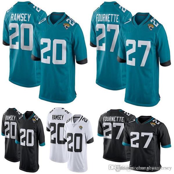 7496d1f58 Men s Jacksonville Jaguars Jalen Ramsey Leonard Fournette Yannick Ngakoue  Teal New 2018 Game Jersey